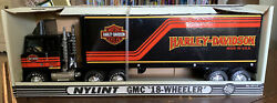 New Nylint Toys No 911-z Gmc Semi Cabover Harley Davidson -pressed Steel -boxed
