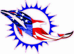Miami Dolphins Flag Full Size Helmet Decals