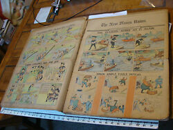 Full Year 1903 Bound Newspaper Comics Plus End Of 1902 New Haven Union
