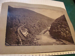 Vintage Early Mounted Photo--the Queen's View Of The Pass Of Killiecrankie 1800s