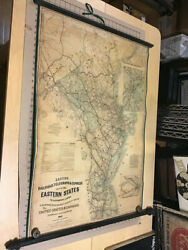 Original 1863 Lloyd's Railroad, Telegraph And Express Map Of Eastern States