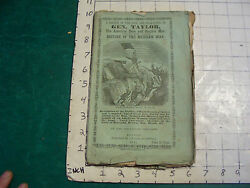 Vintage Book Life And Character Of Gen. Taylor And History Of The Mexican War, 1847