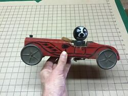 Original Gong Bell Toys - Trix Roadster Missing One Wheel Pull Toy