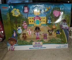 Doc Mcstuffins Toy Hospital Deluxe Friends Collection Disney Junior New
