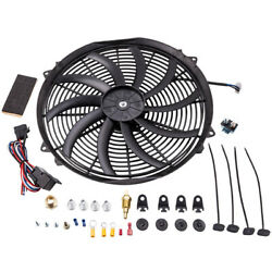 16electric Radiator Fan 2500+cfm Andthermostat Wiring Switch Relay Kit 180and039f