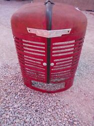 Farmall M Early Sm Ih Tractor Original Front Nose Cone Grill W/ Emblem
