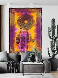 Dream Catcher Tapestry Psychedelic Bohemian Feather Wall Tapestry for Bedroom De