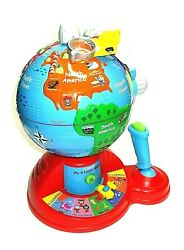 V-tech Vintage Fly And Learn Talking Globe Educational Toy Creates Hours Of Fun