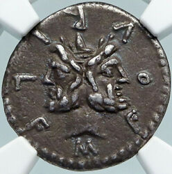 Roman Republic Rome 119bc Rome Janus And Roma Old Ancient Silver Coin Ngc I88351
