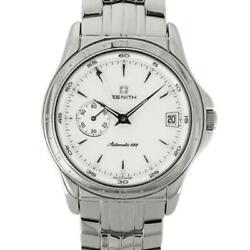 Zenith Class Dual Time 90/02 Stainless Steel Silver White Men's Watch [u0831]