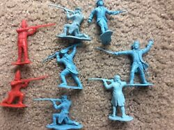 Lot Of 8 Vintage Marx Revolutionary War Colonial And British Soldiers, 1/32