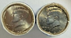 2001 P And D Kennedy Half Dollar Obw Mint Wrapped Rolls 40 Coins Total Carat Coin