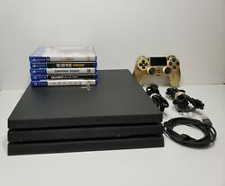 Playstation 4 Ps4 Pro Console 1tb Bundle + 5 Games With 1 Controller