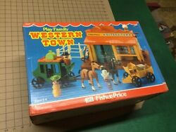Sealed Unopened Fisher Price -- Play Family Western Town 934 Sealed Rare