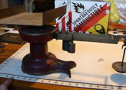 Vintage Antique Howe Red Fishtail Store Counter Scale 5072 Industrialfrom Buk