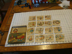 Vintage Old Maid Two In One, Missing Spinner, Missing Cards, Early Russell