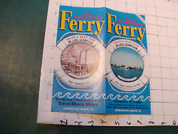 Vintage Brochure Ferry Fort Ticonderoga, 21st Year, Map On One Side