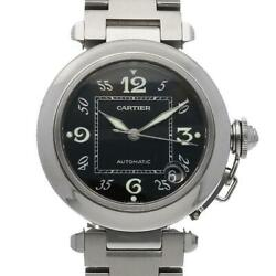 Pasha C Stainless Silver Black Self-winding Menand039s Watch Pre Owned U0831