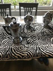 Lot Of 4 Vintage Stainless Steel Coffee Pots See /pictures For Specifics