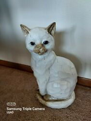 Life Size Flame Point Siamese Cat Statue