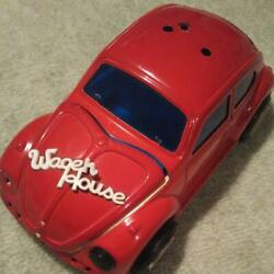 Minicar Tin Toys Vintage 1980s Showa Retro Color Red 22x11x9cm Ussed As-is Junk