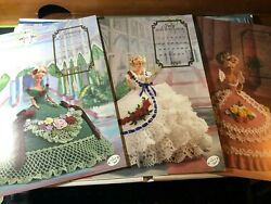 Annie's Calendar Bed Doll Society 1992 Crochet Dress Patterns Barbie Collectors