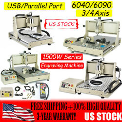 1500w Usb Port/parallel Port 3axis/4axis Cnc 6040/6090 Router Engraving Machine