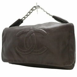 Used Coco Mark Chain Shoulder Bag With Guarantee Card And Serial Sticker