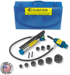Current Tools Hydraulic Knockout Set - Heavy Duty Holemaking Set With Piece Make