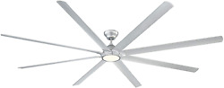 Hydra Indoor And Outdoor 8- Smart Ceiling Fan 120in Titanium With 3000k Led Ligh