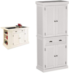 Nantucket White Kitchen Island By Home Styles And Home Styles Nantucket Pantry - W