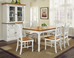 Home Styles Monarch Seven Piece Dining Table Set With Six Double X-back Chairs W