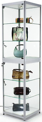 Display Cabinet For Use At Exhibitions And Trade Shows Silver Finish W/lights