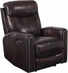 Coaster Home Furnishings Cushion Back Seat Headrest And Power Lumbar Brown Recl