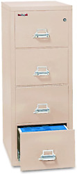 Fireking Fireproof Vertical File Cabinet 4 Letter Sized Drawers Impact Resista