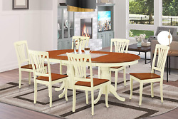 7 Pc Dining Room Set For 6-dining Table With 6 Kitchen Dining Chairs