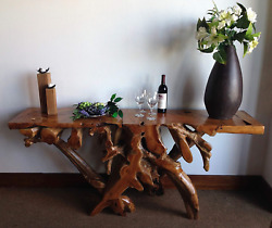 Teak Root Console Table By Chic Teak 72 Inches Long Made From Solid A-grade Te