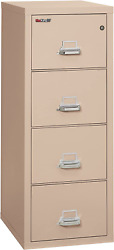 Fireking Fireproof Vertical File Cabinet 4 Letter Sized Drawers, Impact Resista