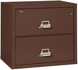 Fireking Fireproof Lateral File Cabinet 2 Drawers, Impact Resistant, Water Resi