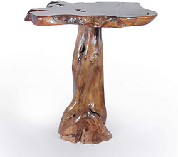 Genuine Teak Wood Slab Bar Table, Rustic And Unique, Made By Chic Teak From Soli