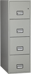Phoenix Vertical 31 Inch 4-drawer Letter Fireproof File Cabinet With Lock, Water