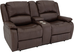 Recpro Charles Collection | 67 Double Recliner Rv Sofa And Console | Rv Zero Wall