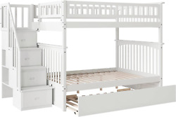 Atlantic Furniture Columbia Staircase Bunk With Turbo Charger And Twin Size Urba