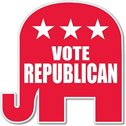 Victorystore Vote Republican Elephant Shaped Yard Sign With 2 Stakes 500
