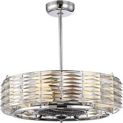 Savoy House 30-333-fd-11 Six Light Air Ionizing Fan D`lier In Polished Chrome