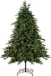 Northlight 9and039 Pre-lit Aurora Spruce Full Artificial Christmas Tree - Clear Light