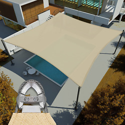 Eandk Sunrise Reinforcement Large Sun Shade Sail 41and039 X 44and039 Rectangle Heavy Duty St