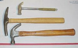 Lot Of Hammers Mount Magnetic Tack Multi Purpose And 12 Ounce Craftsman Claw