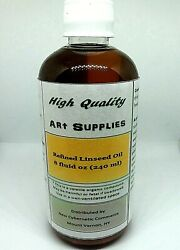 Refined Linseed Oil Artist Grade 8 Oz Bottle High Quality Brand