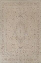 Muted Semi Antique Traditional Area Rug Distressed Handmade Low Pile Wool 10x13